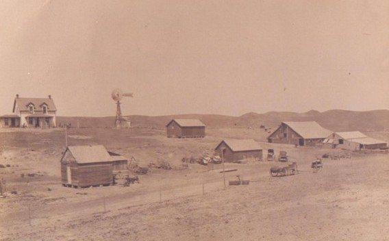 Ridder ranch west of Callaway, 1910.